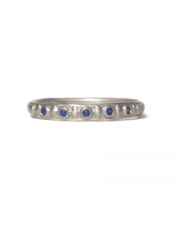Sapphire Istanbul Ring - White Gold