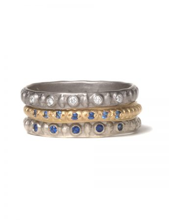 Sapphire Stitches Ring - Yellow Gold
