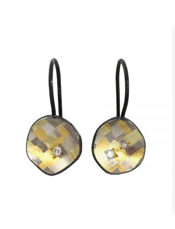 Shared Terrain Diamond Hook Earrings