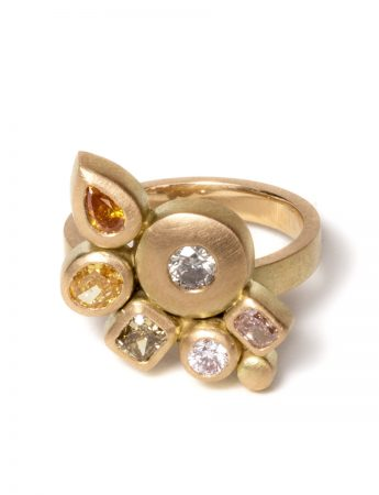 Songwriter Ring - Yellow Gold & Diamonds