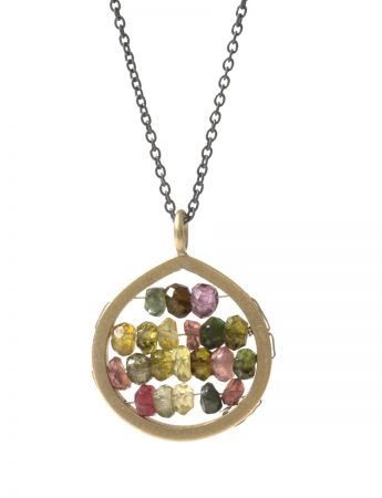 Small Broad Teardrop Reef Necklace – Tourmaline