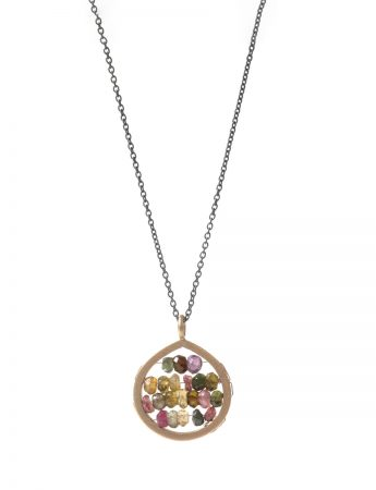 Small Broad Teardrop Reef Necklace - Tourmaline