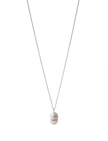 Party Pearl Pendant Necklace - Pink Sapphires