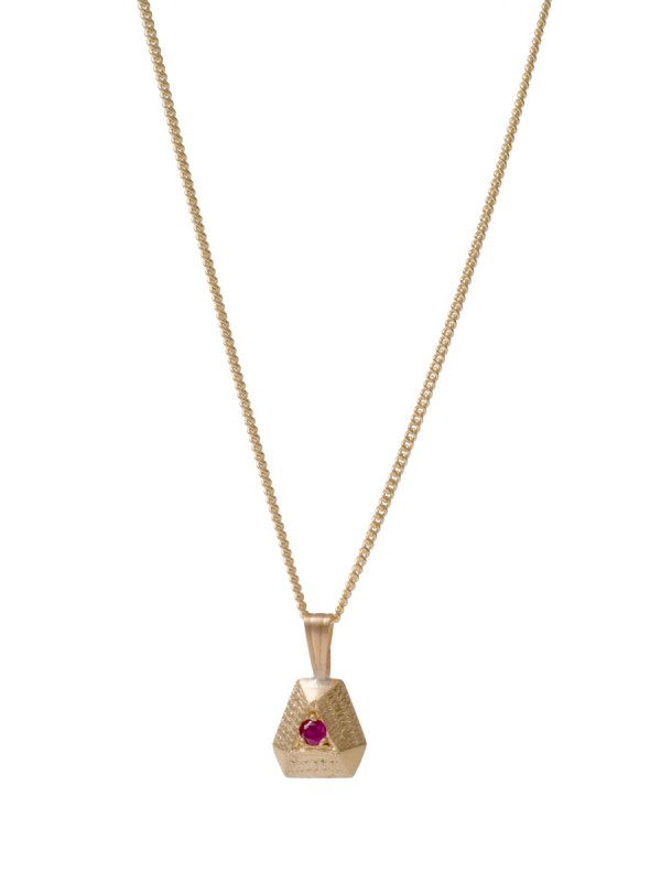 Ruby Point Necklace – Yellow Gold