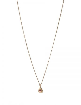 Ruby Point Necklace - Yellow Gold