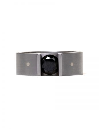 Cross Section Black Diamond Ring