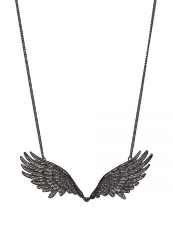 Double Wing Necklace - Black