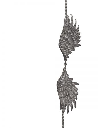 Double Wing Necklace – Black