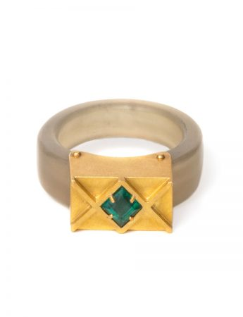 Emerald Monarch Ring