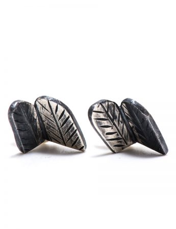 Feather Fold Earrings