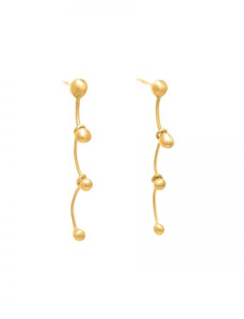 Gouttes Earrings - Matte Yellow Gold