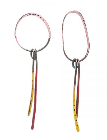 Pink Loop Freckle Earrings