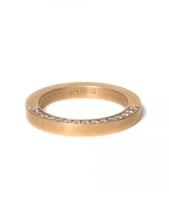 Solid Diamond Infinity Ring – Yellow Gold