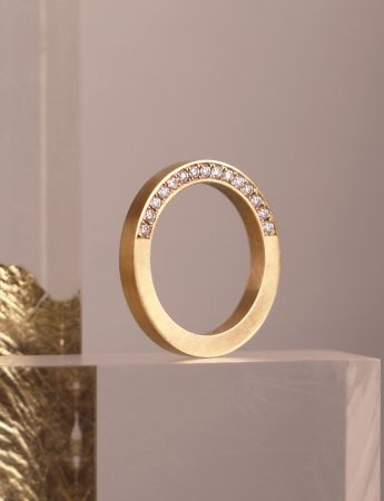 Solid Diamond Infinity Ring - Yellow Gold