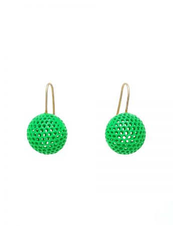 Ball Hook Earrings - Green