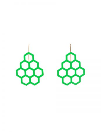 Honeycomb Earrings - Green