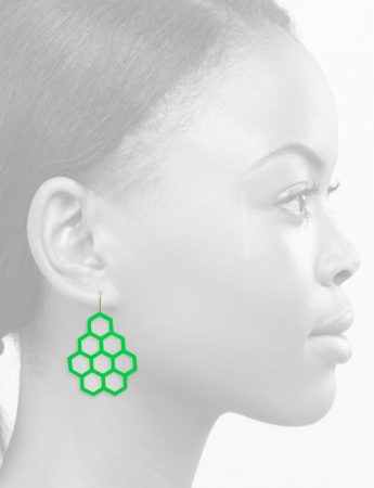 Honeycomb Earrings – Green