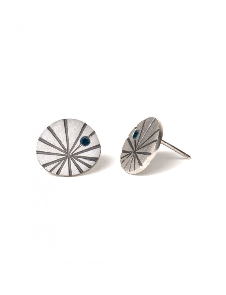 Large Fan Shell Stud Earrings – Tourmaline