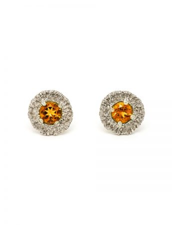 Vortex Earrings - Citrine
