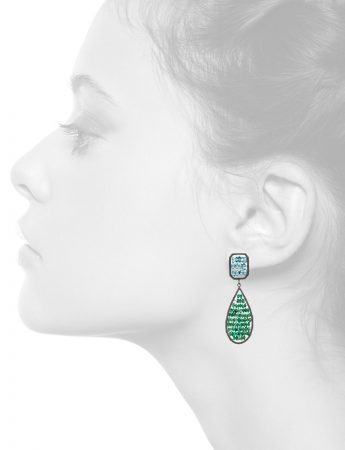 Double Reef Earrings – Topaz & Emerald