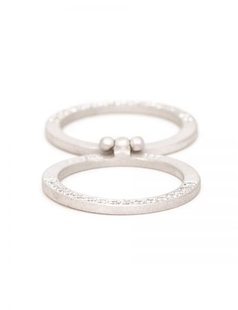 Infinity Folding Ring - Silver & Diamond