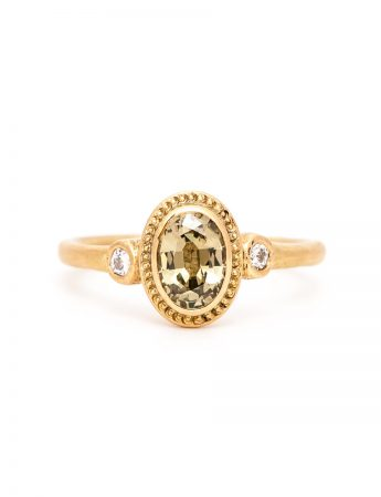 Old World Ring - Yellow Parti Sapphire