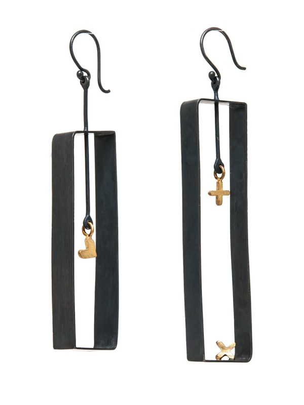 Love XO Rectangle Earrings