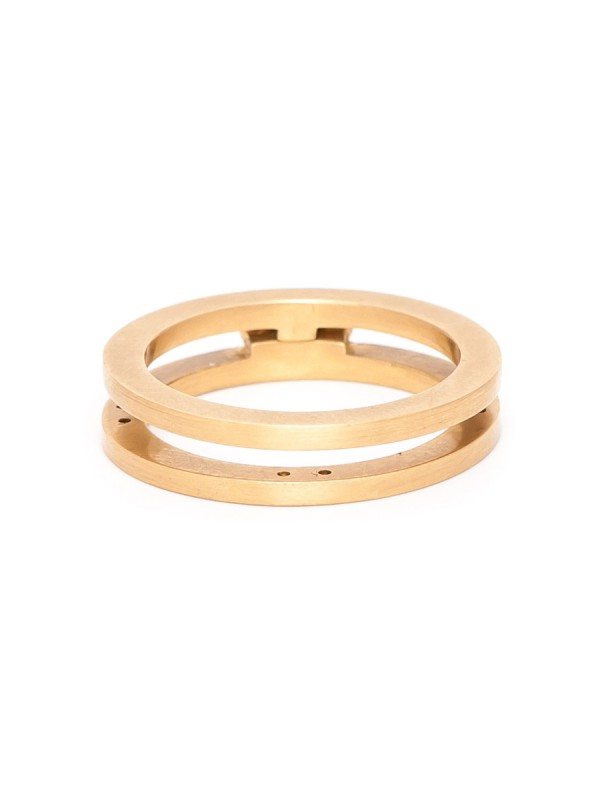 Infinity Folding Ring – Yellow Gold