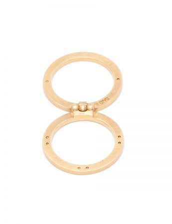 Infinity Folding Ring - Yellow Gold