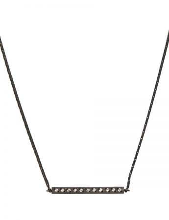 Beat Necklace - Black & Diamonds