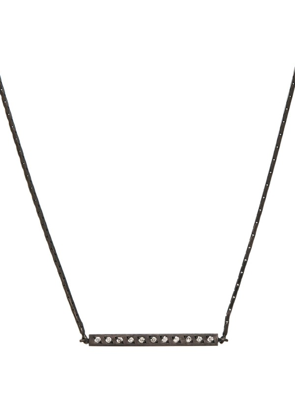 Beat Necklace – Black & Diamonds