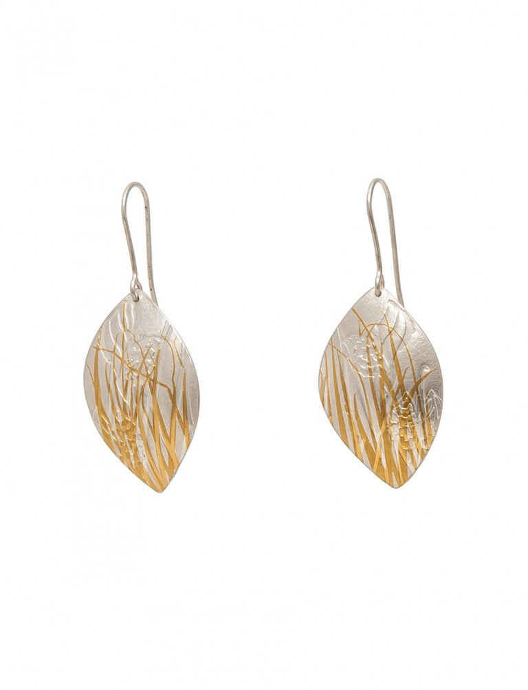 Bushland Earrings – Silver & Gold
