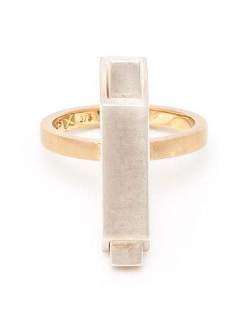 City Ring - Silver & Yellow Gold