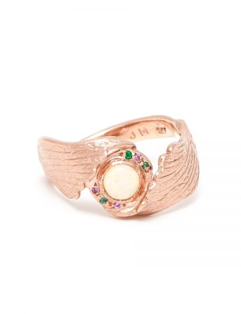 Earth Angel Opal Ring - Rose Gold