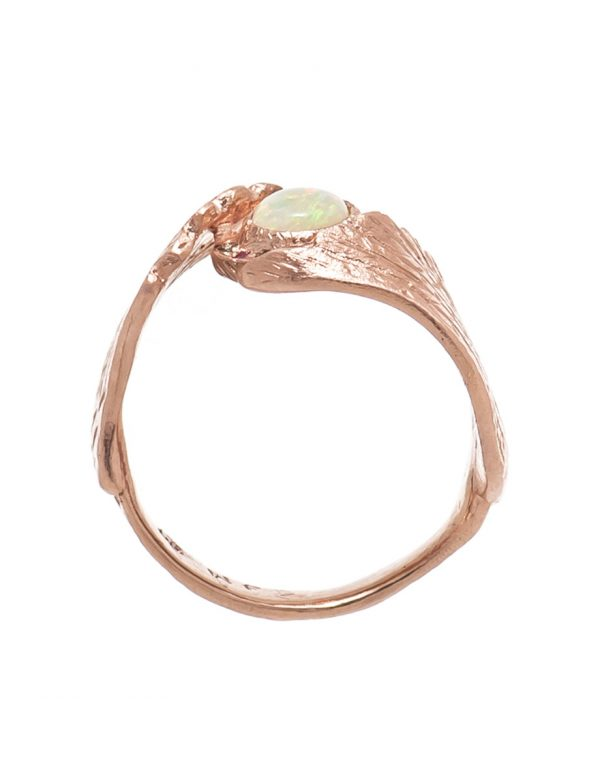 Earth Angel Opal Ring – Rose Gold
