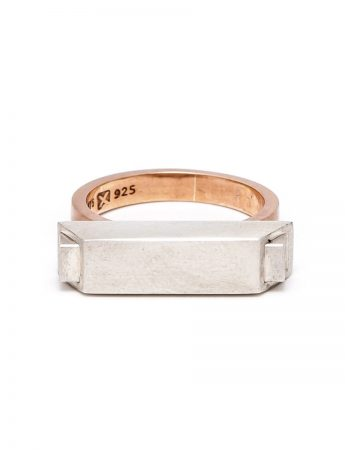 Envelope Ring - Silver & Rose Gold