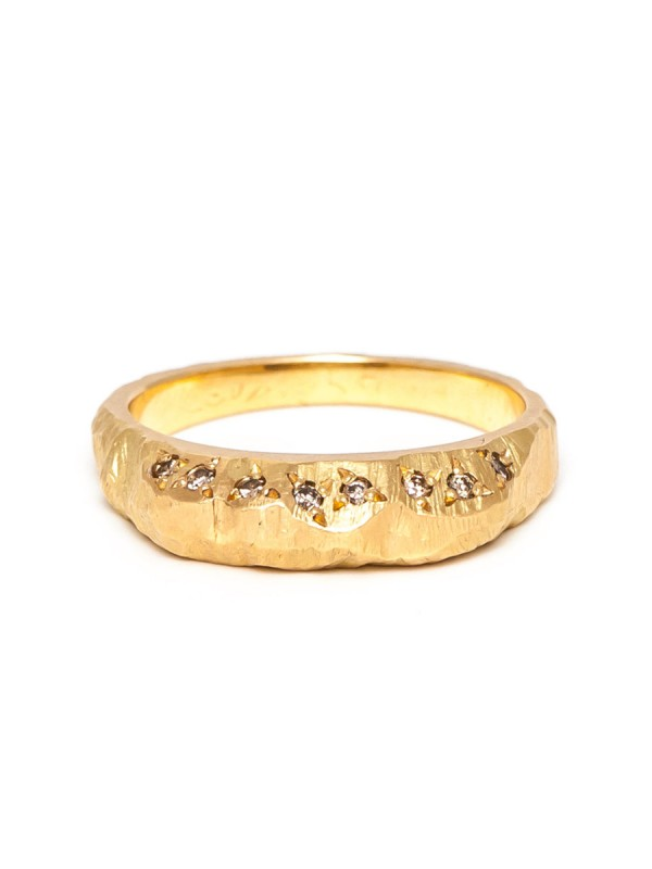 Golden Mountain Champagne Diamond Ring