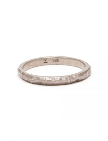 Golden Path I Thin Wedder Ring - White Gold