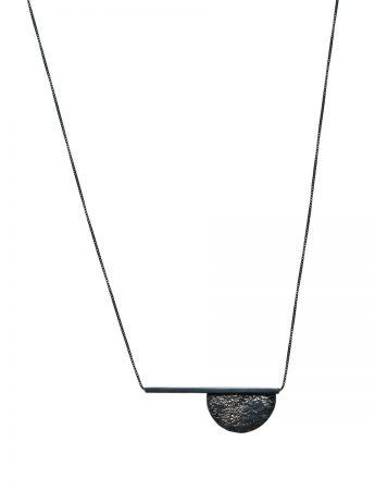 Moonscape Semicircle and Line Necklace