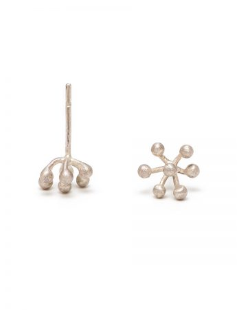 Petits Pois Stud Earrings - Silver