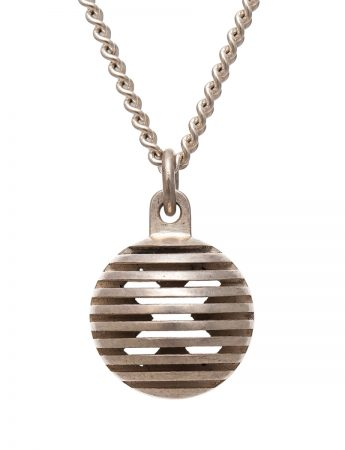 Silver Secret Orb Pendant Necklace - Kiss