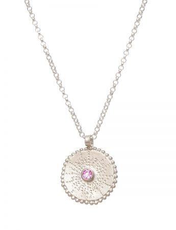 Silver Star Necklace - Pink Tourmaline