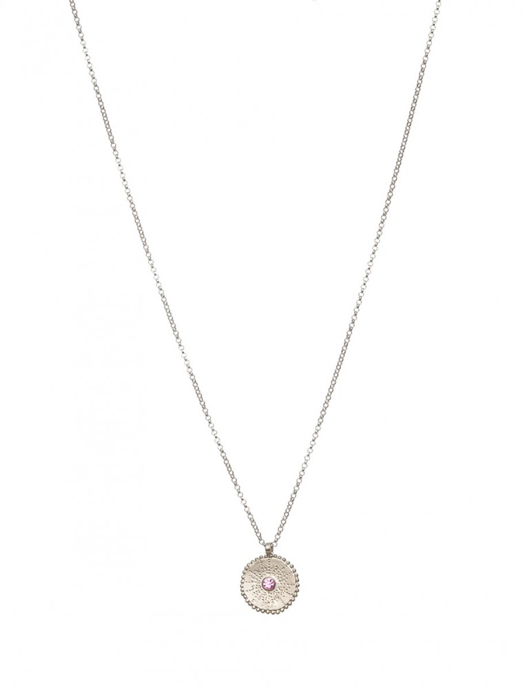 Silver Star Necklace – Pink Tourmaline