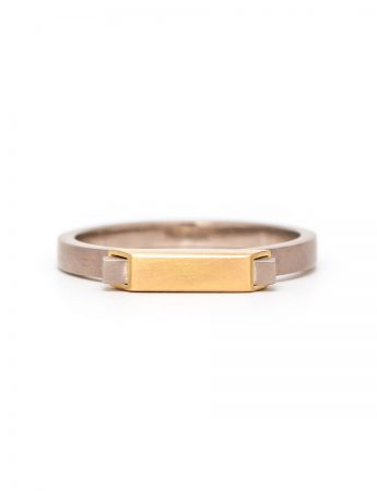 Small Envelope Ring - Yellow Gold
