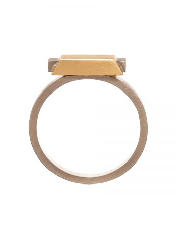 Small Envelope Ring – Yellow Gold