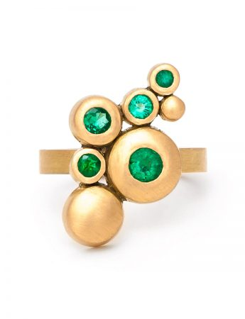 Songwriter Ring - Yellow Gold & Emeralds