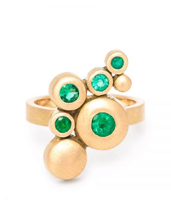 Songwriter Ring – Yellow Gold & Emeralds