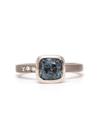 Storm Ring - Grey Spinel & White Gold