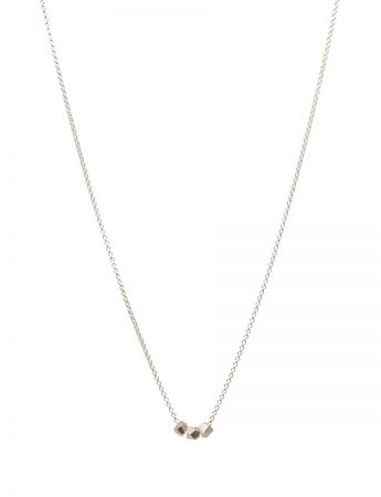 Triple Facet Pendant Necklace - Silver