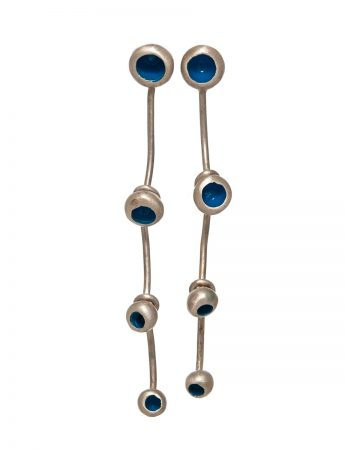 Gouttes Fleur Four Drop Earrings - Blue